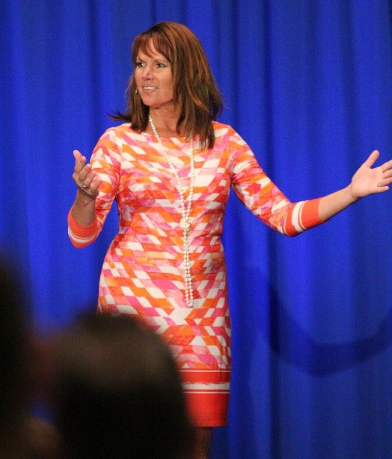 Jamie Marboe speaking at a dental conference